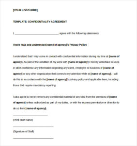 printable-contract-Basic-Confidentiality-Agreement-Template-Word-Format