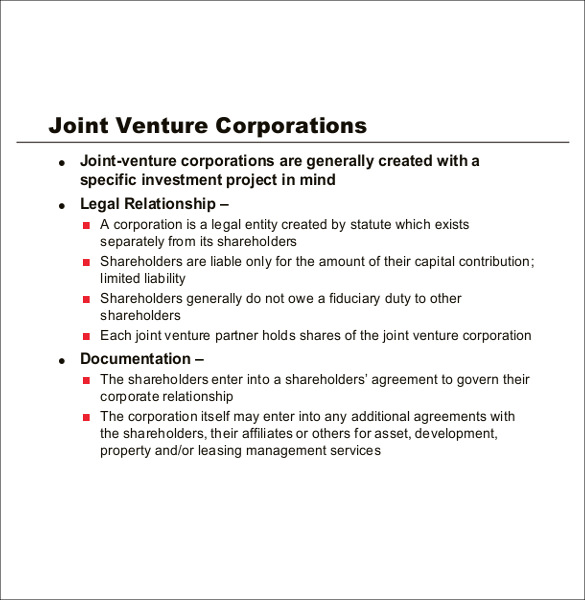 joint venture agreement contract