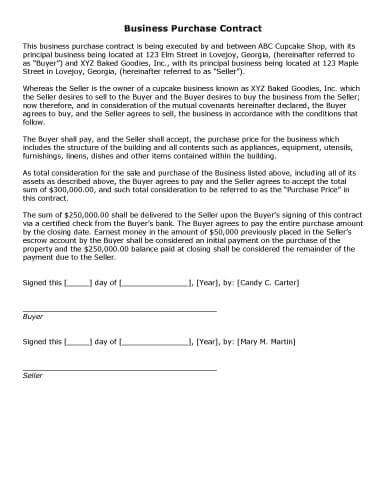 free-printable-business-purchase-contract