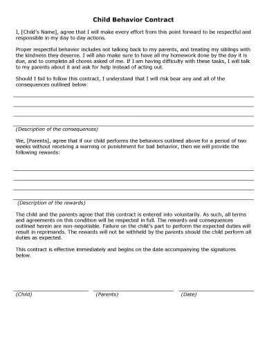 free-printable-child-behavior-contract