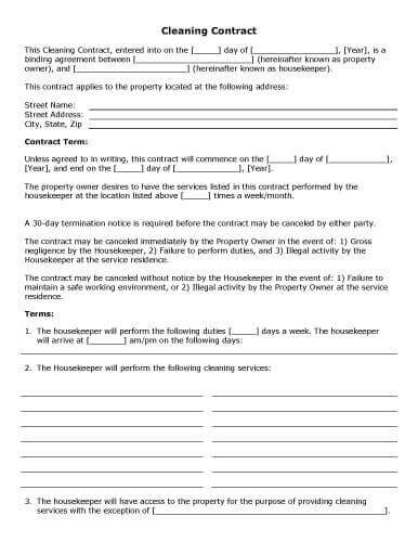 free-printable-cleaning-contract