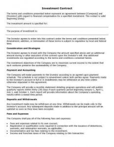 free-printable-Investment-Contract