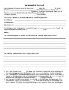 free-printable-Landscaping-Contract