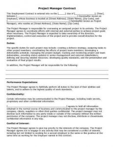 free-printable-Project-Manager-Contract