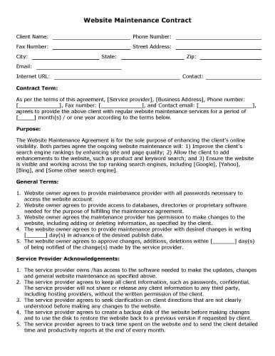 free-printable-website-maintenance-contract
