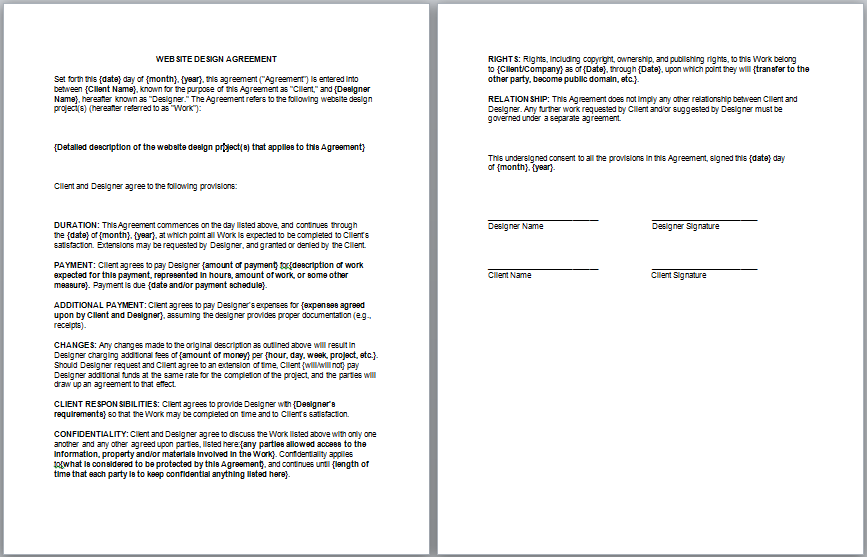 Consulting Contract Template Contract Templates