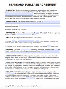 contract-Rental Agreement Template